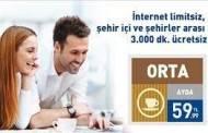 Turknet Limitsiz İnternet + Ev Telefonu 59,99 TL.