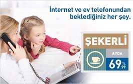 Turknet Limitsiz İnternet + Her Yöne Telefon 69,99 TL.