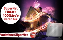 "Vodafone Fiber İnternet, 32 Mbps""e Kadar Fiber 54,90 TL."