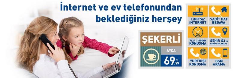 turknet limitsiz internet her yöne telefon